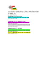SELECCIONES 22 Y 29 DE OCTUBRE